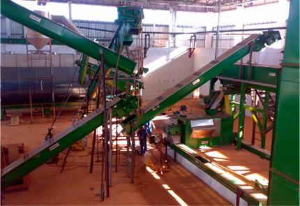 Montagem de Fábrica de Farinhas e Similares